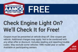 free check engine light check coupon